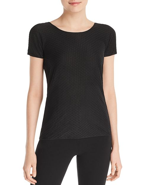 Emporio Armani - Textured Short Sleeve Tee