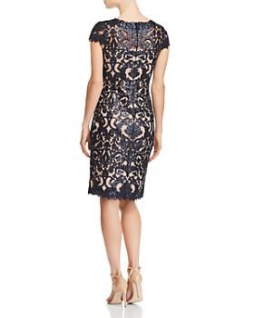 Tadashi Petites - Petites Sequined Damask Dress