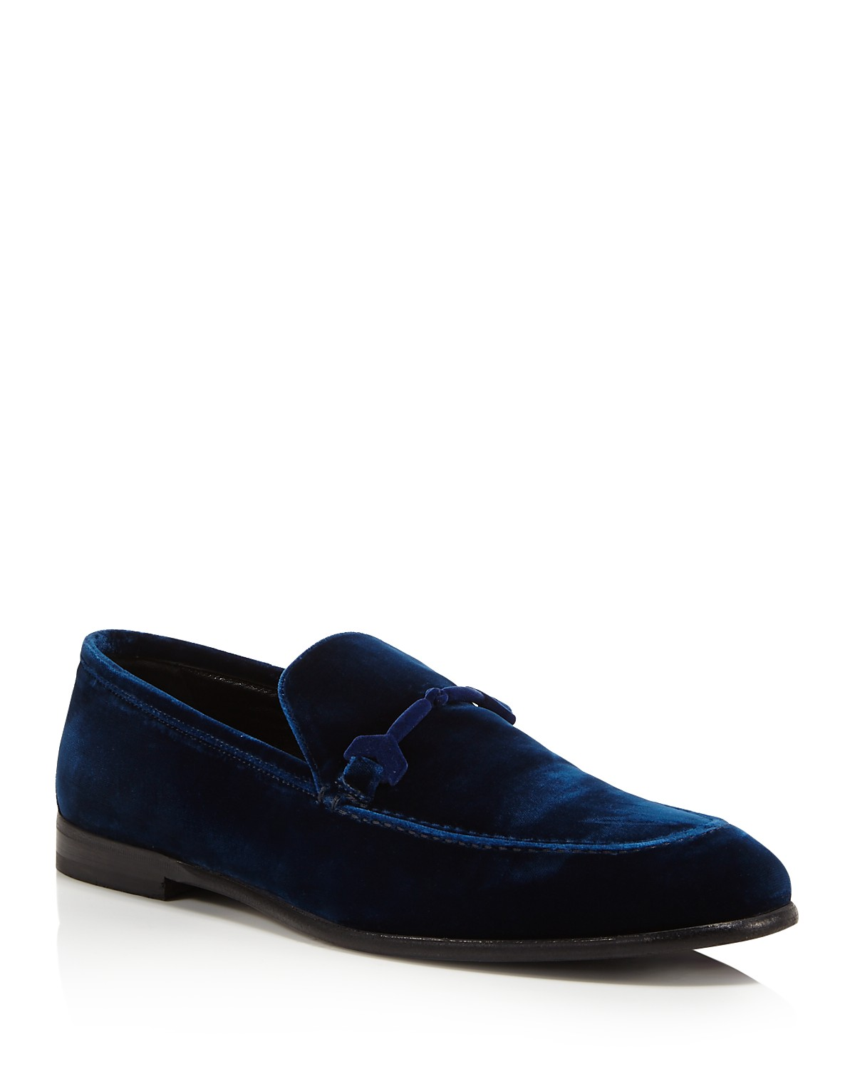 Jimmy choo Designer Shoes, Marti Navy Velvet Loafer