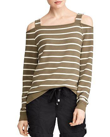 fae1c70a3d7fc4 Ralph Lauren - Striped Cold-Shoulder Top