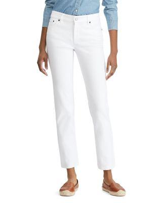 $Lauren Ralph Lauren Straight Leg Jeans in White - Bloomingdale's