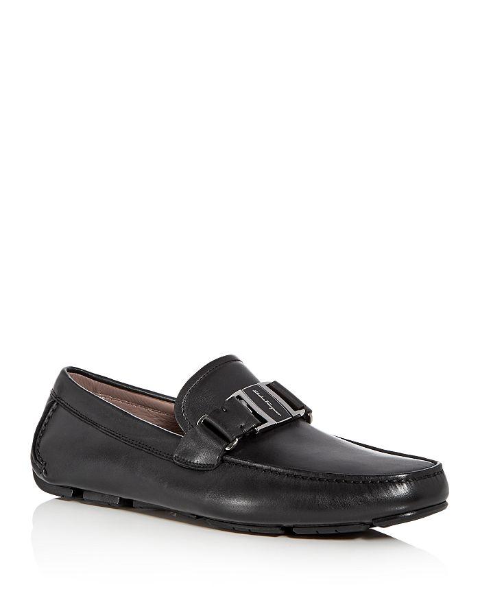 Salvatore Ferragamo - Men's Sardegna Leather Moc Toe Drivers