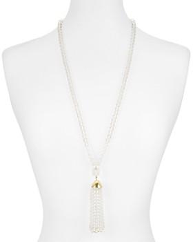 """AQUA - Lucite Tassle Pendant Necklace, 32"""" - 100% Exclusive"""