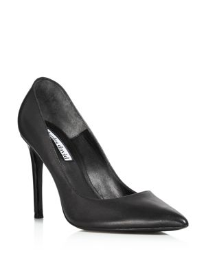 CHARLES DAVID Women'S Caleesi Leather Pointed Toe High-Heel Pumps in Black Leather
