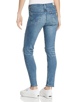AG - Ankle Legging Jeans in 10 Years Sea Mist Destructed