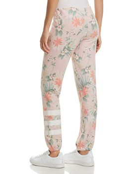 Sundry - Stripe-Detail Tropical Print Sweatpants