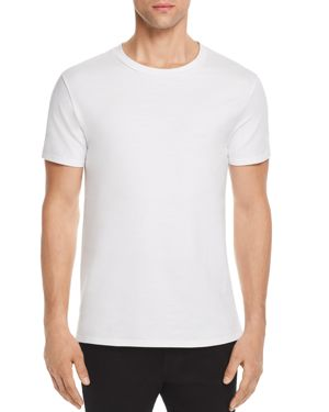 VITALY Fishtail Crewneck Tee in Off White