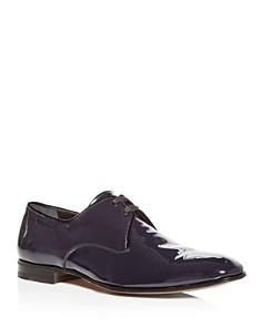 Salvatore Ferragamo - Men's Patent Leather Plain Toe Oxfords