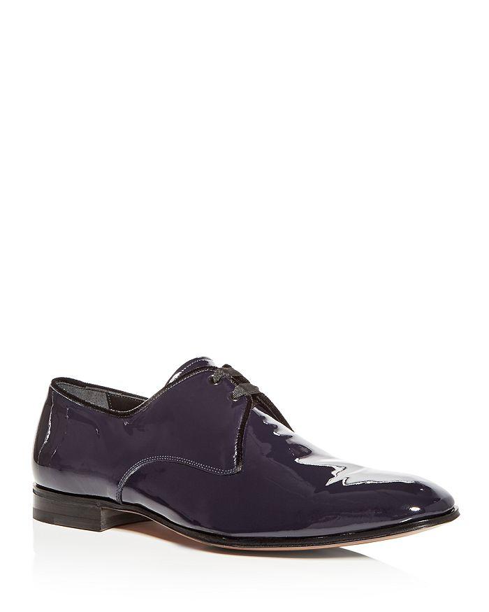 Salvatore Ferragamo - Broadway Patent Leather Plain-Toe Oxfords