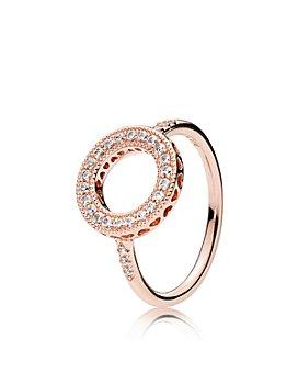 Pandora - Rose Hearts of PANDORA Halo Statement Ring