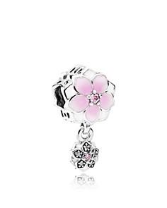 PANDORA Sterling Silver & Enamel Magnolia Bloom Drop Charm - Bloomingdale's_0