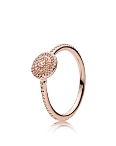PANDORA Rose Gold-Tone Sterling Silver Radiant Elegance Statement Ring - Bloomingdale's_0