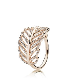 PANDORA Gold-Plated Sterling Silver Light As a Feather Ring - Bloomingdale's_0