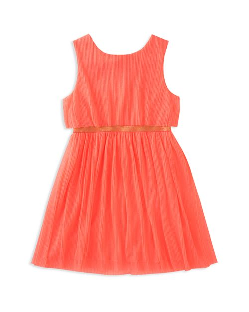 kate spade new york - Girls' Pleated Glitter Dress - Big Kid