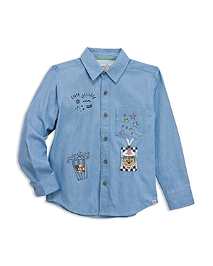 Sovereign Code x Nickelodeon Boys Paw Patrol Patch Printed Chambray Shirt Little Kid  100 Exclusive