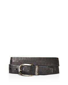 John Varvatos Star USA Etched Belt with Metal Keeper - Bloomingdale's_0