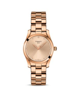 TISSOT T-Wave Ii Diamond Watch, 30Mm in Rose Gold/ Cream/ Rose Gold