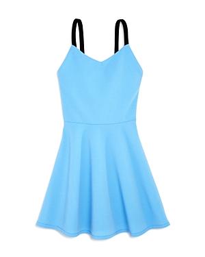 Aqua Girls Textured FitandFlare Dress Big Kid  100 Exclusive