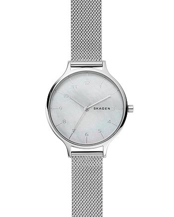 Skagen - Anita Steel Mesh Mother of Pearl Watch, 36mm