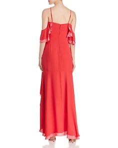 BCBGMAXAZRIA - Ruffled Cold-Shoulder Gown