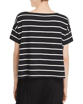 Eileen Fisher Petites - Organic-Cotton Striped Boxy Top