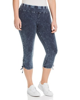 Marc New York Plus - Side-Tie Cropped Denim Leggings