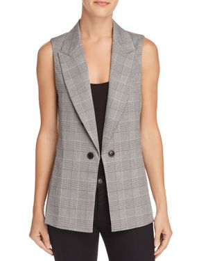 PLAID VEST - 100% EXCLUSIVE