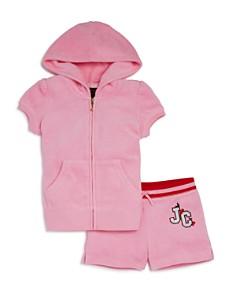 Juicy Couture Black Label Girls' Cherry Grove Terry Hoodie & Shorts Set - Little Kid - Bloomingdale's_0