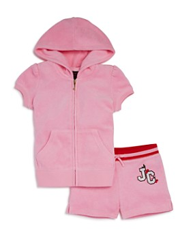 Juicy Couture Black Label - Girls' Cherry Grove Terry Hoodie & Shorts Set - Little Kid