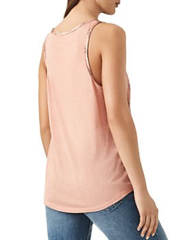 REISS - Remy Mixed-Media Tank