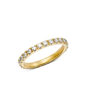 SUEL Blackened 18K Yellow Gold Diamond Eternity Band in White/Gold