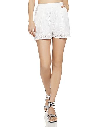 BCBGENERATION - Eyelet Pleated Shorts