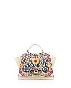 ZAC Zac Posen Eartha 3D-Printed Stained Glass Leather Soft Top Handle Satchel - Bloomingdale's_0