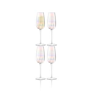 Lsa International Pearl Champagne Flute, Set of 4