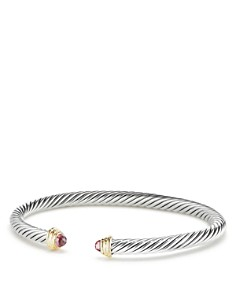 David Yurman - Cable Kids Birthstone Bracelet with Pink Tourmaline & 14K Gold