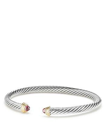 David Yurman - Cable Kids Birthstone Bracelet with Pink Tourmaline & 14K Gold