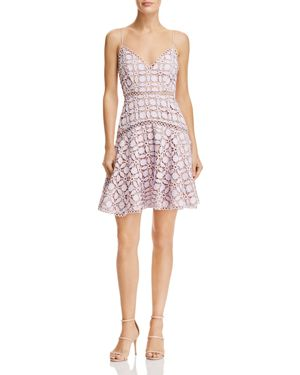 SAU LEE Piper Lace Dress in Lavender