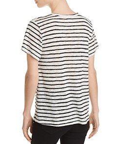 LNA - Reina Shoulder-Cutout Striped Slub Tee