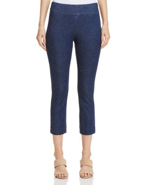 NIC AND ZOE Nic+Zoe Ticket Skinny Crop Pants in Blueprint