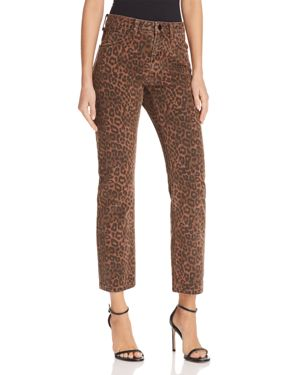 T by Alexander Wang Cult Cropped Straight Jeans in Tan Leopard 2976965