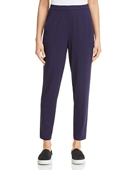 Eileen Fisher - Slim Ankle Slouchy Pants, Regular & Petite
