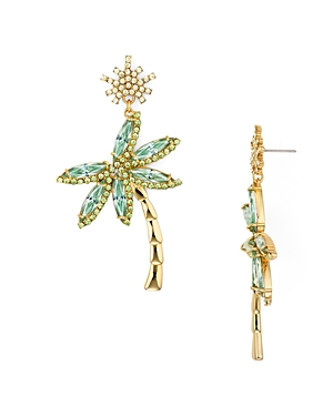 kate spade new york Pave Palm Tree Drop Earrings