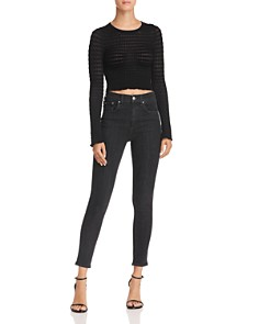 alexanderwang.t - Textured Crop Top
