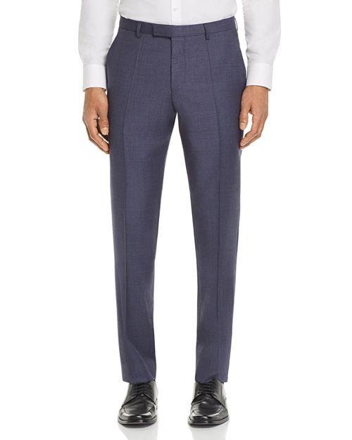 BOSS - Leenon Regular Fit Small Check Dress Pants