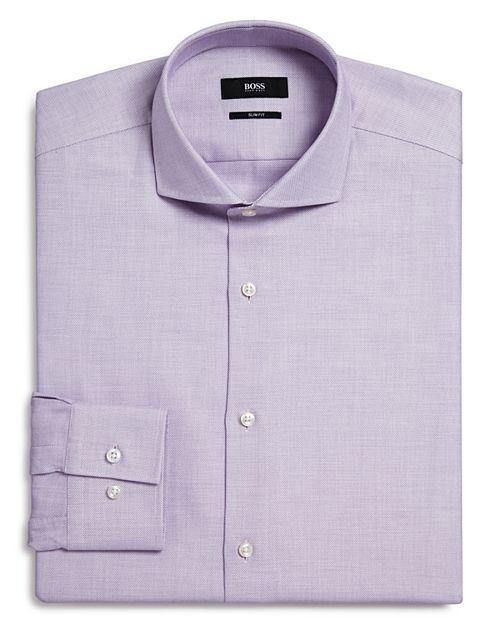 BOSS - Textured Slim Fit Dress Shirt