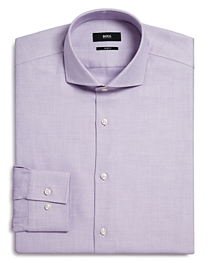Boss Textured Slim Fit Dress Shirt