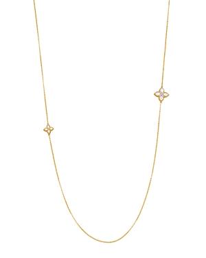 Roberto Coin 18K Yellow Gold Venetian Princess Mother-Of-Pearl & Diamond Necklace, 26