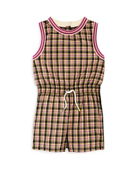 Burberry - Girls' Pollie Check Playsuit - Little Kid, Big Kid