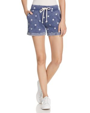 Camo Lounge Shorts in Navy Stars