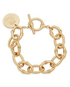 Lauren Ralph Lauren Logo Script Charm Link Bracelet - Bloomingdale's_0